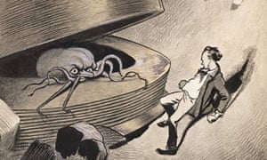 A man comes face to face with a Martian in HG Wells' The War of the Worlds