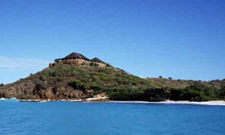 NECKER ISLAND OWNED BY RICHARD BRANSON - VIRGIN ISLANDS - 1989