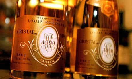 Bottles of Cristal champagne