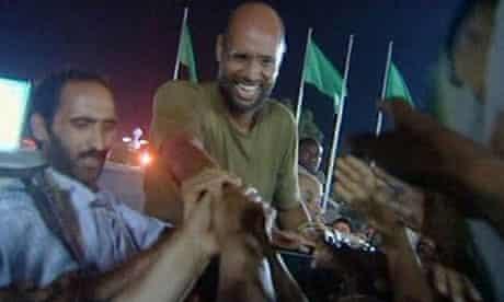 Saif Al-Islam, son of Libyan leader Muammar Gaddafi