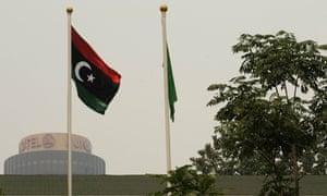 Libyan rebel flag in Beijing