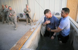 Afghanistan baptism: A young US Marine 'Tyler' decides to step in to be baptised