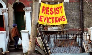 Protesting against eviction at Saint Agnes Place squat in Kennington, south London.