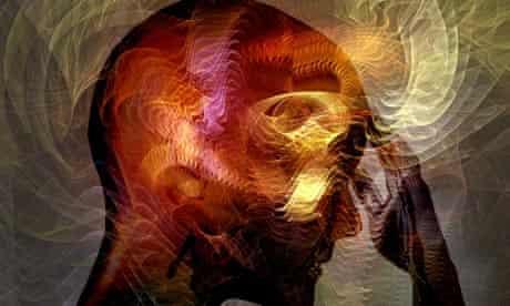 A woman hallucinating