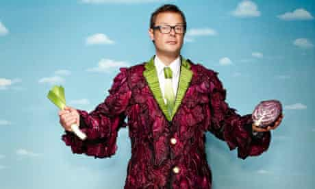 Hugh Fearnley-Whittingstall with veg