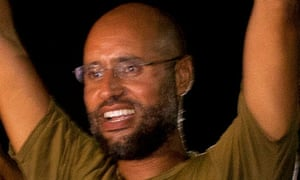 Saif al-Islam Gaddafi, seen in Tripoli after the ICC suggested he had been captured