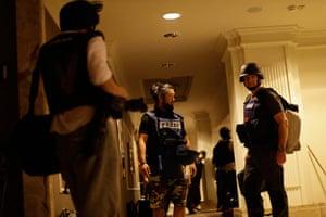 Media in Rixos hotel: Journalists gather as gun-battles continue around the Rixos hotel