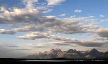 The Grand Tetons at daybreak