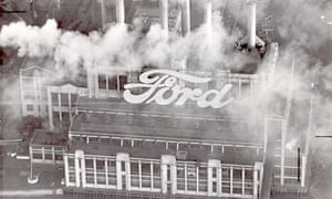 Ford factory at Dagenham in the 1960