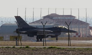 F-16 jet fighter at Nato base