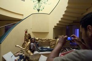 Gaddafi houses: mermaid couch