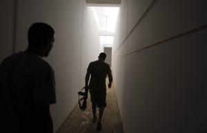 Gaddafi houses: escape corridor