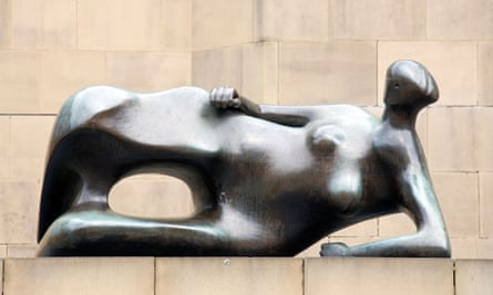 Reclining Woman: Elbow, by Henry Moore