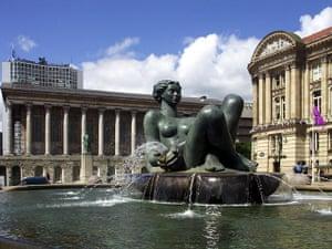 Women sculptures: The River by Dhruva Mistry, Birmingham