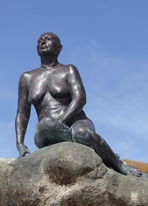 Women sculptures: Folkestone Mermaid by Cornelia Parker, Kent