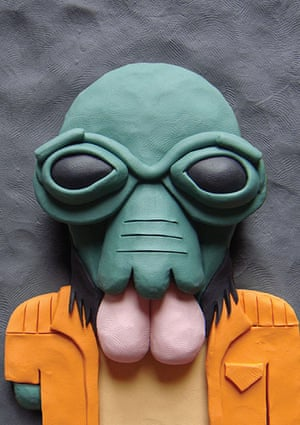 Plasticine Tatooine: Star Wars character made out of plasticine