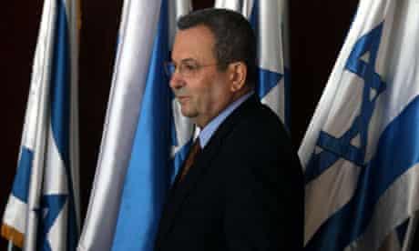 Israeli Defence Minister Ehud