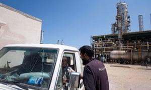 An oil refinery in Zawiyah, Libya.