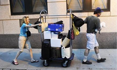 New Yorkers evacuate Irene