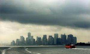 Hurricane Irene: Manhattan skyline