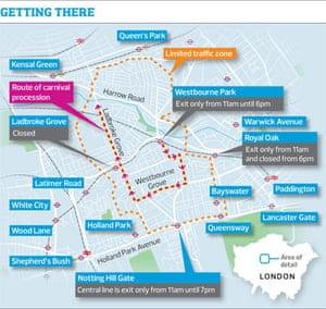 Notting Hill carnival map