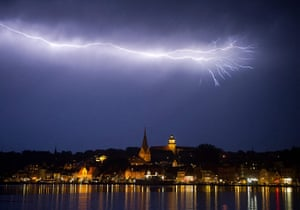 24 hours in pictures: Lightning illuminates the sky, Germany