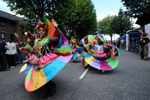 Notting Hill carnival: Young performers take part in the Notting Hill Carnival children's day