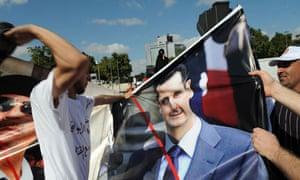 Protest against President Assad in Istanbul