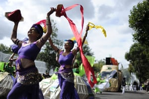 Notting Hill - Day 2: Performers take part in the Notting Hill Carnival in London