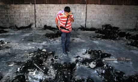 burned bodies Libya