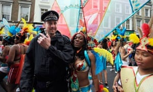 Police officer at Notting Hill carnival