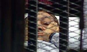Hosni Mubarak in court