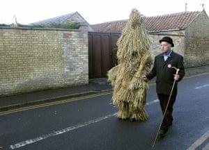 celebrate gallery: straw bear festival, lincolnshire