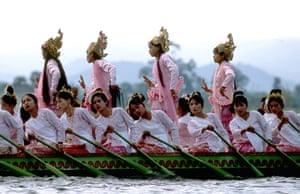 celebrate gallery: 'Kachathe' dancers, Lake Inle, Burma