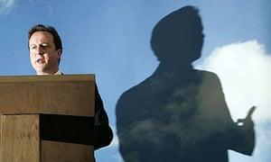 David Cameron giving speech