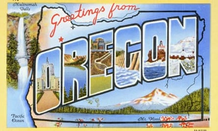 Postcard of Greetings from Oregon