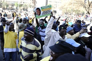 Malema demonstrations: Supporters of controversial ANC youth leader Julius Malema