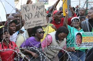 Malema demonstrations: Supporters gather as Malema faces charges of sowing division