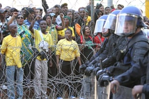 Malema demonstrations: Supporters of the ANC Youth League President Julius Malema gather
