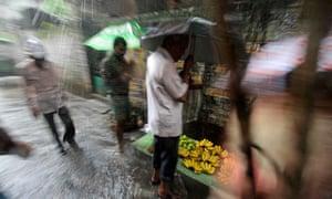 Monsoon rains in Kolkata, India