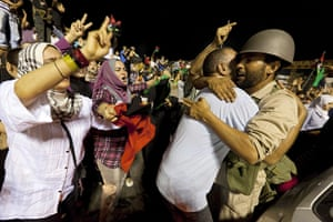 Sean Smith in Libya: 24 August: People gather in what was Green Square in Tripoli, to celebrate