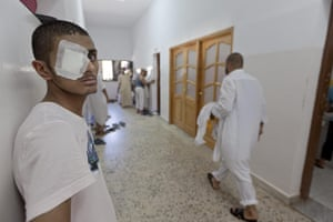 Sean Smith in Libya: 30 August: Misrata prison where pro-Gaddafi soldiers are being imprisoned