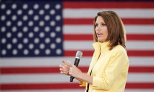 US Republican presidential candidate and Tea Party favourite, Michele Bachmann