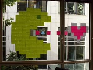 Post-it wars: Pac-Man