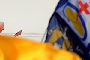 FTA: Jorge Guerrero: Pope Benedict XVI leds a Crucifixion ceremony at Cibeles square in Madrid