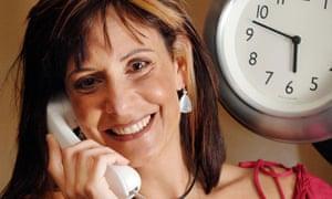 Sara Mendes da Costa, the voice of the speaking clock.
