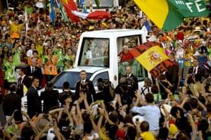 FTA: Jorge Guerrero: Pope Benedict XVI leaves in his Popemobile