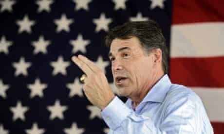 Rick Perry campaign stop in Texas