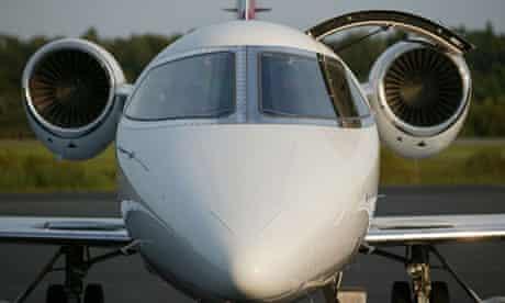 A Gulfstream executive jet