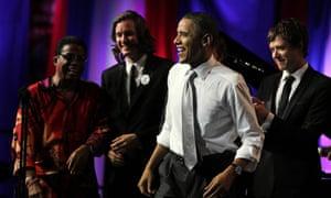President Barack Obama celebrates his birthday at DNC Fundraiser, Chicago, America - 03 Aug 2011